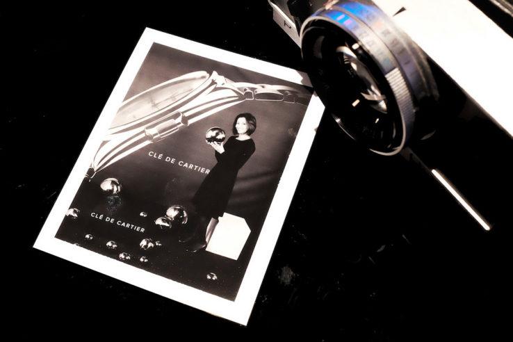 Polaroid N&B pour Clé de Cartier