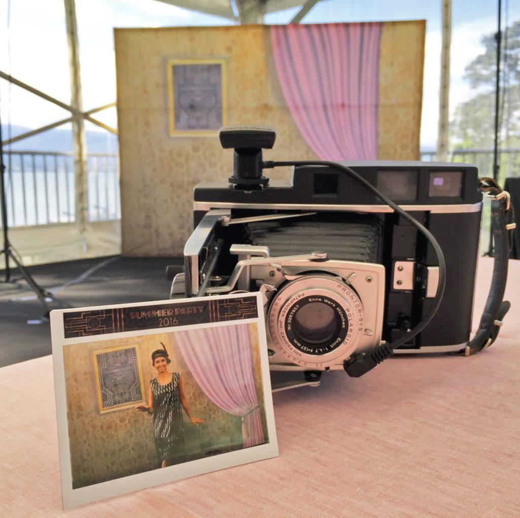 Polaroid vintage pour soirée rétro années folles